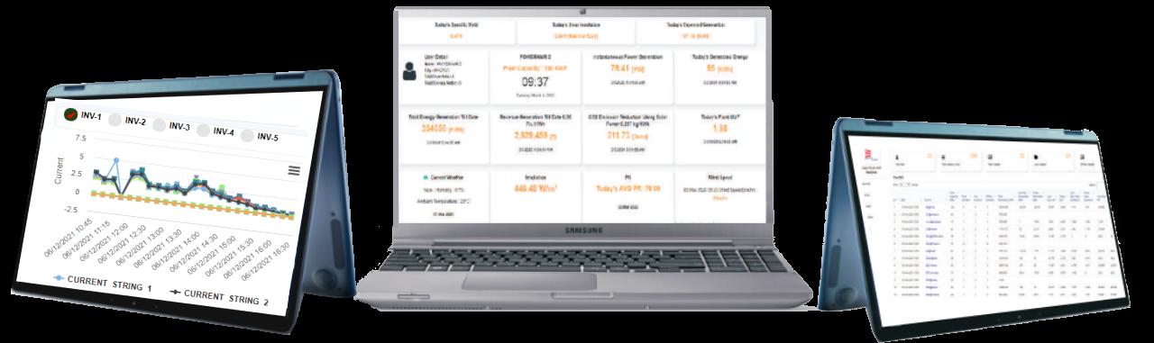 solar management dashboard