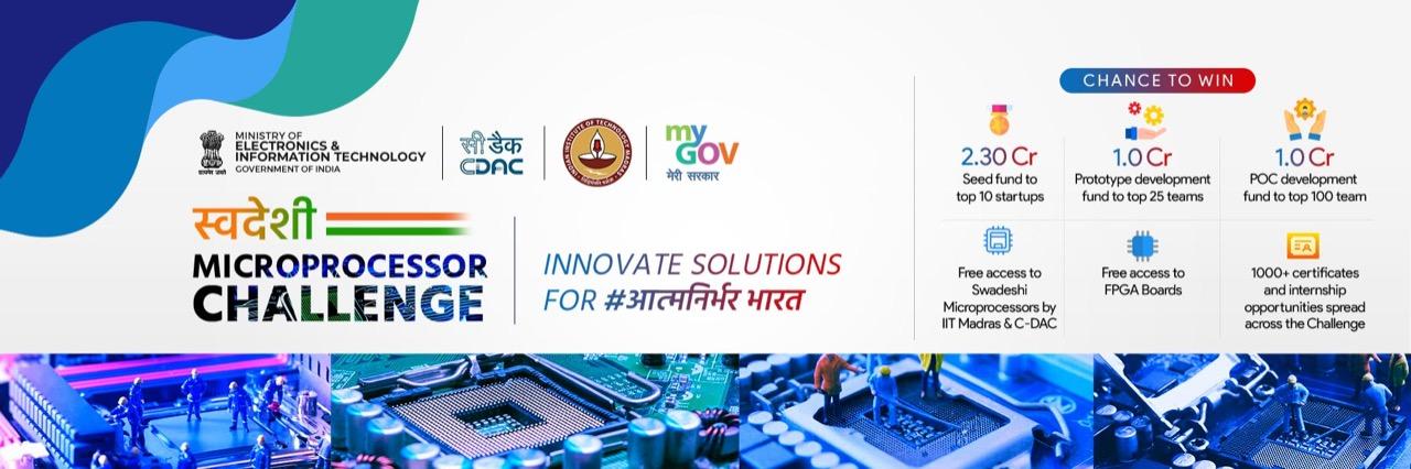 We reached the top 100 Semi Finalist Under #AatmaNirbharBharat Abhiyan, Swadeshi Microprocessor Challenge